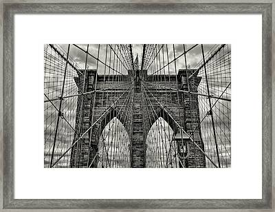 Brooklyn Bridge Framed Print by Stephen Stookey