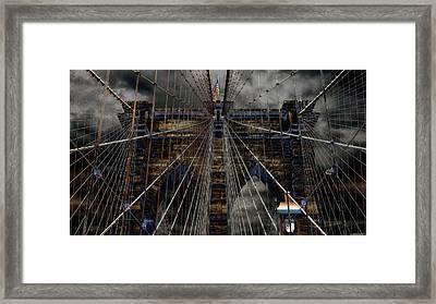 Brooklyn Bridge - Surreal Framed Print by Stephen Stookey