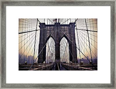 Brooklyn Bridge Suspension Cables Framed Print