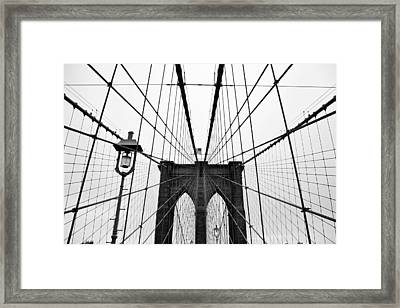 Brooklyn Bridge Framed Print by Thank you for choosing my work.