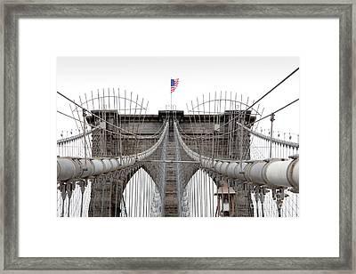 Brooklyn Bridge Top Framed Print