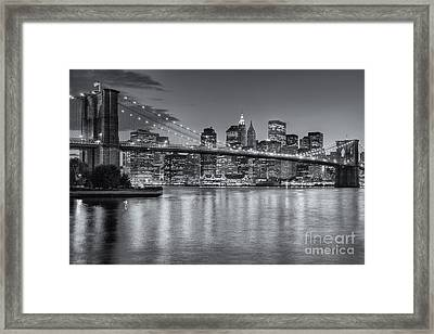 Brooklyn Bridge Twilight II Framed Print