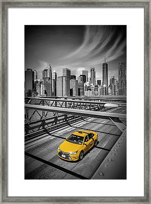 Brooklyn Bridge View Framed Print