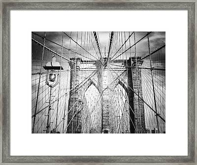 Brooklyn Bridge Framed Print by Vivienne Gucwa