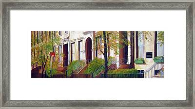 Brooklyn Brownstone Corridor 2 Framed Print by Leonardo Ruggieri