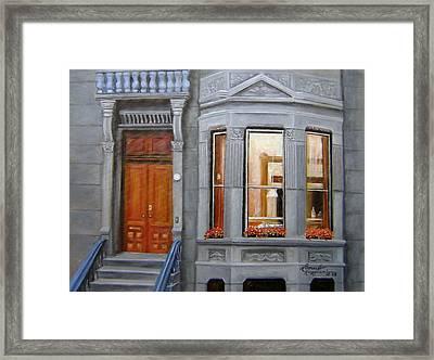 Brooklyn Brownstone Window Framed Print