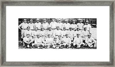 Brooklyn Dodger Champions Framed Print by Underwood & Underwood