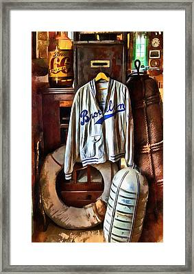 Framed Print featuring the photograph Brooklyn Dodgers Baseball  by Thom Zehrfeld