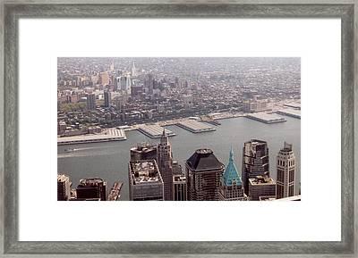 Brooklyn From World Trade Center Framed Print