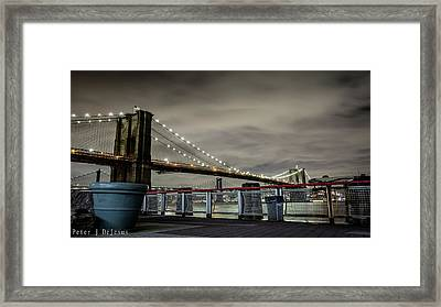 Brooklyn Manhattan Dockside Framed Print