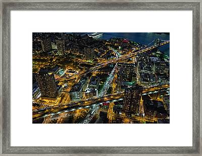Brooklyn Nyc Infrastructure Framed Print by Susan Candelario