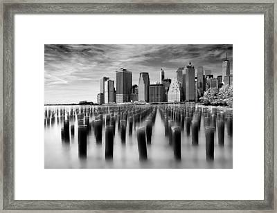 Brooklyn Park Pilings Framed Print by Jessica Jenney