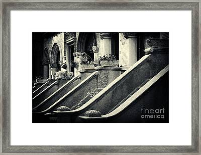 Brooklyn Park Slope Stoops Framed Print