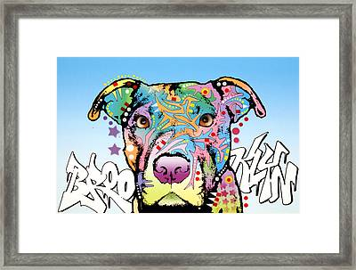 Brooklyn Pit Bull 2 Framed Print by Dean Russo