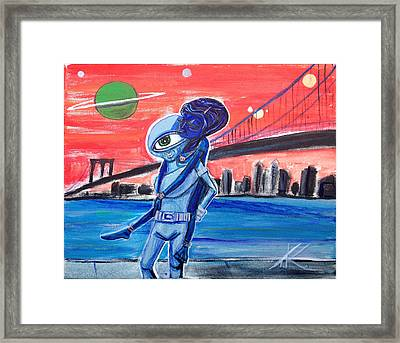 Brooklyn Play Date Framed Print