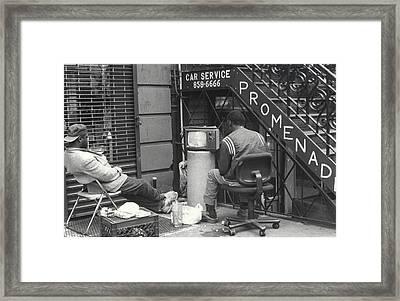 Brooklyn Promenade Framed Print by Andrea Simon