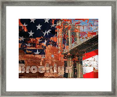 Brooklyn-usa Framed Print by Tila Gun