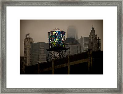 Framed Print featuring the photograph Brooklyn Water Tower by Chris Lord