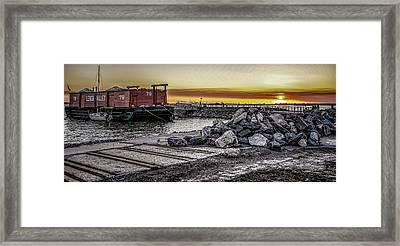 Brooklyn Waterfront Sunset Framed Print