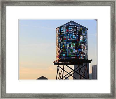 Brooklyn's Glowing Glass Water Tower - Public Art Framed Print