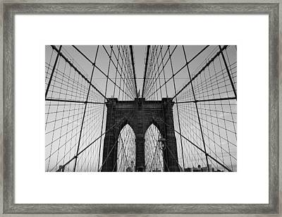Brooklyn's Web Framed Print by Joshua Francia