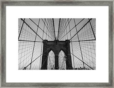 Brooklyn's Web Framed Print by Joshua Francia