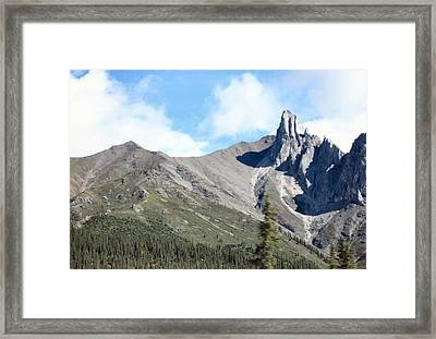 Framed Print featuring the photograph Brooks Mountains by Adam Owen