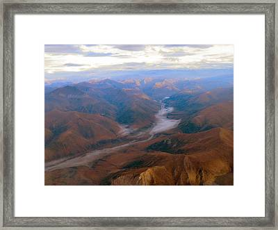 Framed Print featuring the photograph Brooks Range At 4000 Feet by Adam Owen