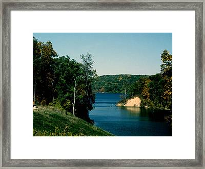 Brookville Lake Brookville Indiana Framed Print by Gary Wonning