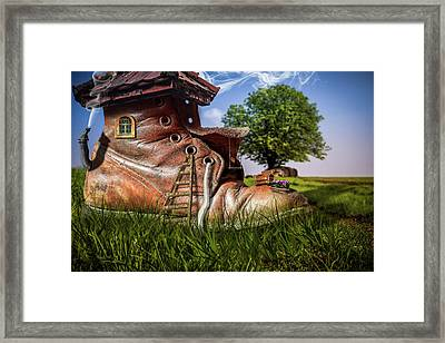 Broth Without Any Bread Framed Print by Randy Turnbow