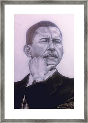 Brotha President Framed Print