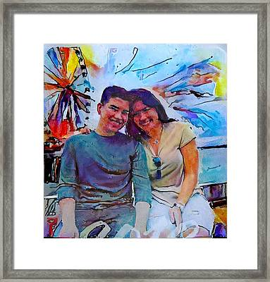 Brother And Sister Love Framed Print