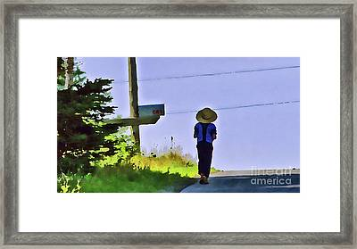 Brother Framed Print by Laura Mace Rand