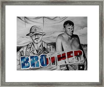 Brother Framed Print by Laura Taylor
