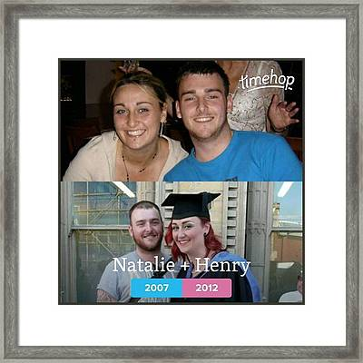 #brother #siblings #throwback Framed Print by Natalie Anne