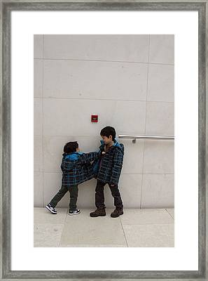Framed Print featuring the photograph Brotherly Love 1 by Jez C Self