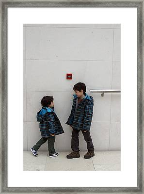 Framed Print featuring the photograph Brotherly Love 2 by Jez C Self