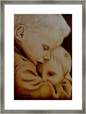 Brotherly Love Framed Print by Jo Schwartz