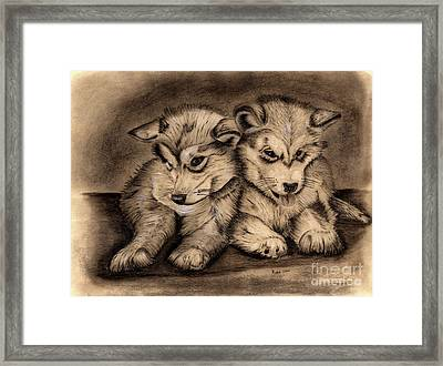 Brotherly Love Framed Print by Russ  Smith