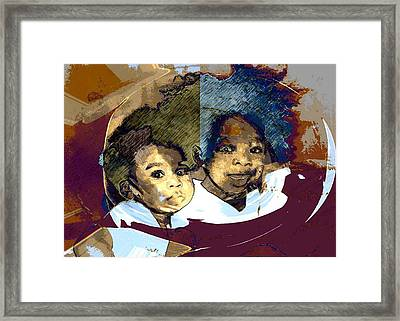 Brothers 1 Framed Print by LeeAnn Alexander