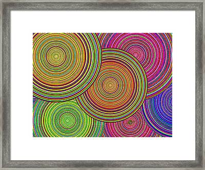 Brothers And Sisters Circles Unite In Dignity And Respect 1 Framed Print by Tony Rubino