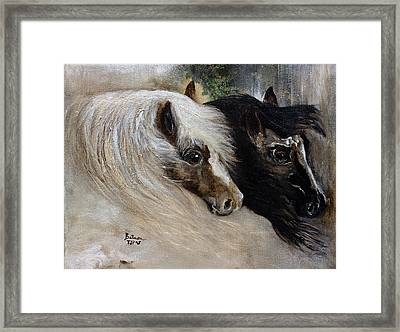 Framed Print featuring the painting Brothers by Barbie Batson
