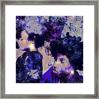 Brothers Blue Framed Print by Iowan Stone-Flowers
