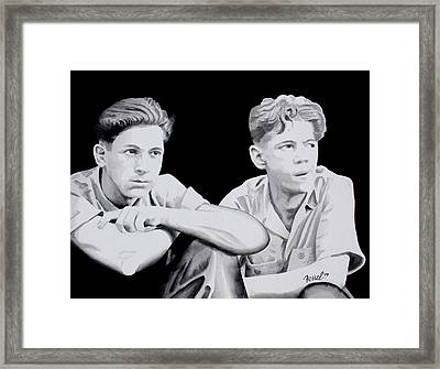 Brothers Framed Print by Ferrel Cordle