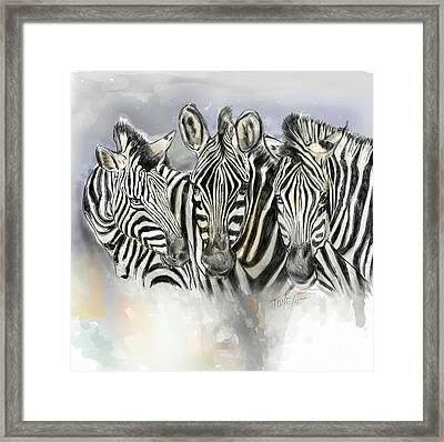 Zeba, Brothers Framed Print