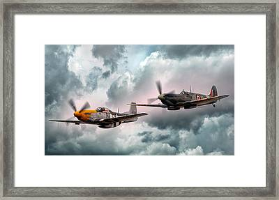 Brothers In Arms Framed Print by Peter Chilelli