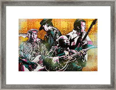 Brothers In Blues Framed Print by Bobby Zeik