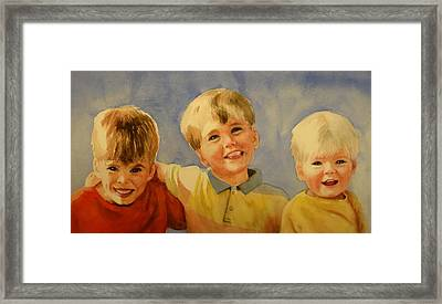 Brothers Framed Print by Marilyn Jacobson