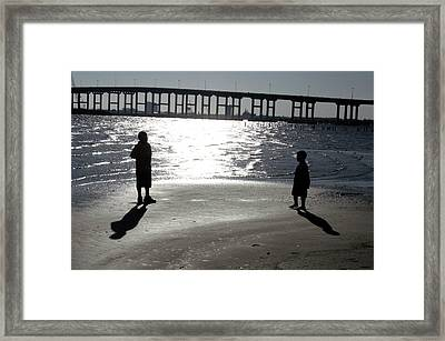 Brothers -- Shadows And Silhouette Framed Print
