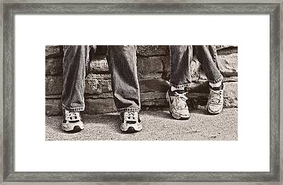 Brothers Framed Print by Tom Mc Nemar